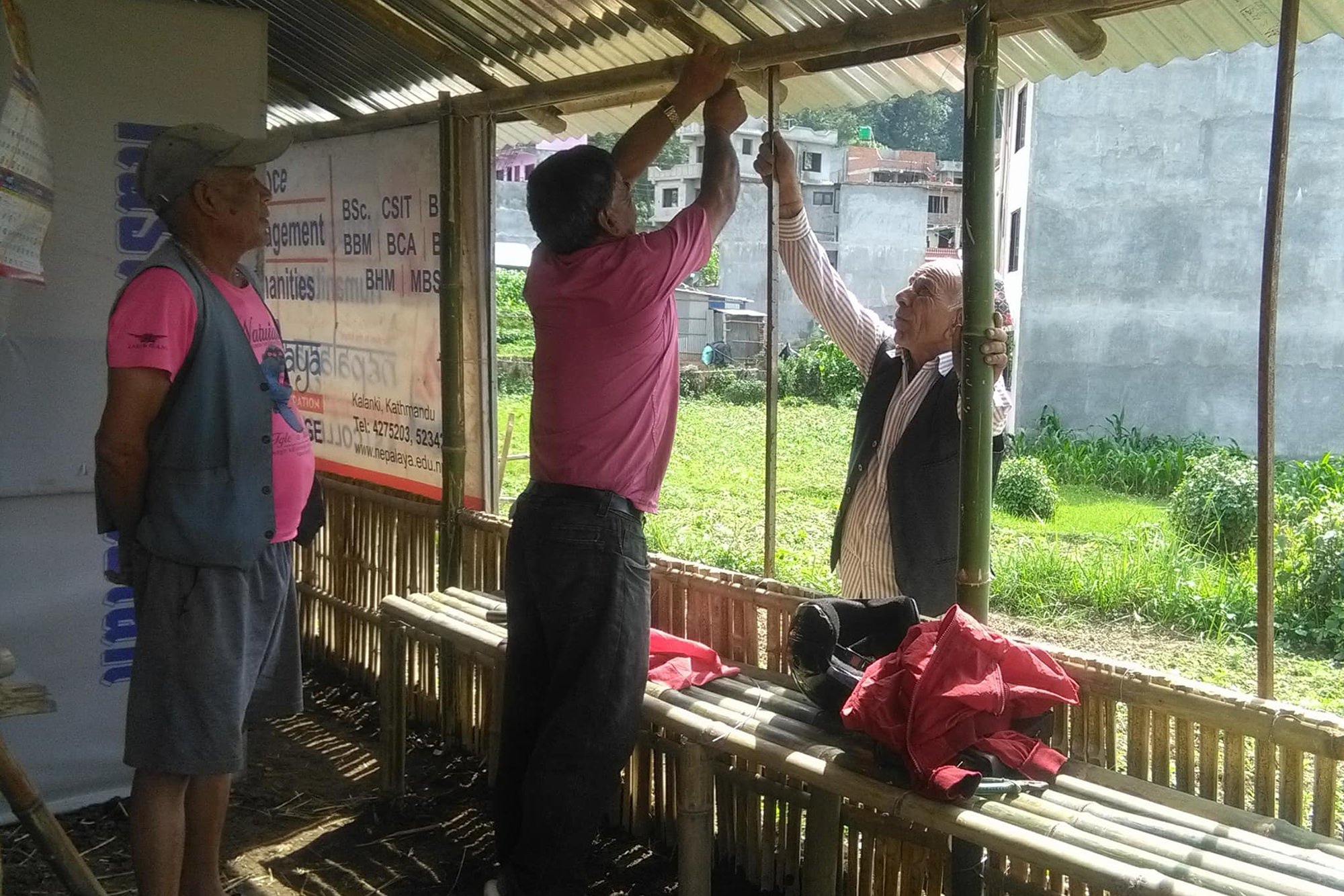 Nepal project updates: A larger vegetable garden and a new bamboo